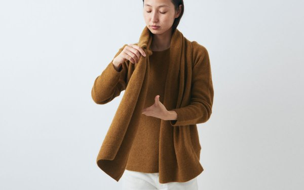 【sold out】enrica cashmere&wool muffler / mastard