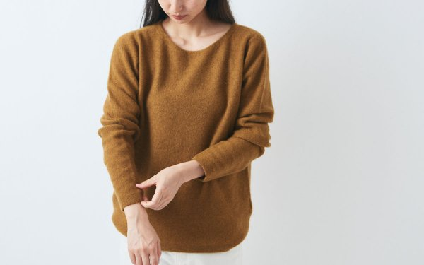 【sold out】enrica cashmere&wool knit / mastard