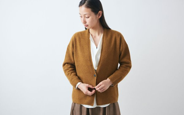 【sold out】enrica cashmere&wool cardigan / mastard