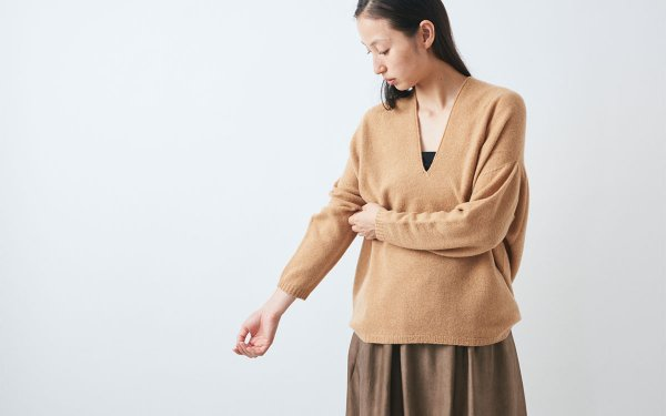 【sold out】enrica cashmere knit / camel
