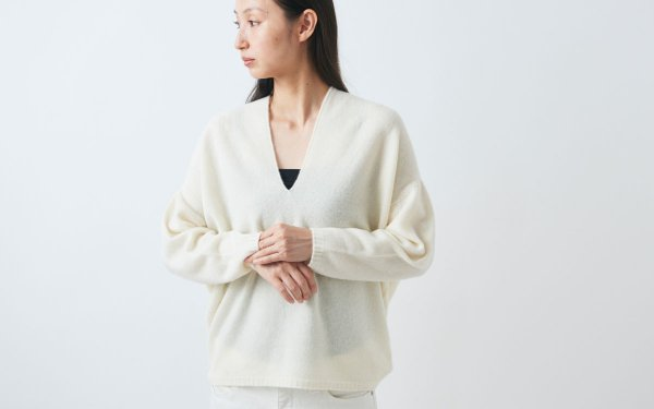 enrica cashmere knit / natural