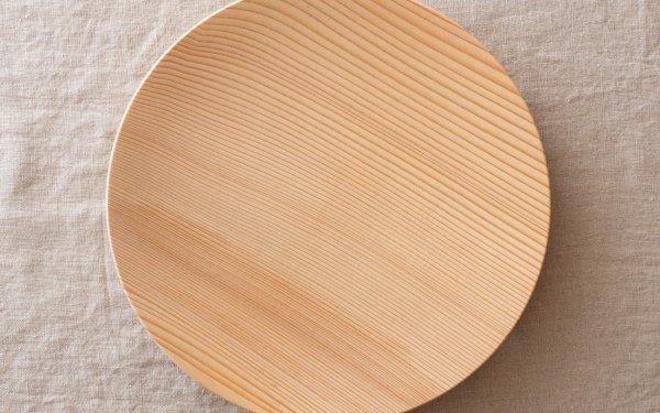 【在庫あり】ろくろ挽きの木皿 樅(もみ)の木 9寸(27cm)