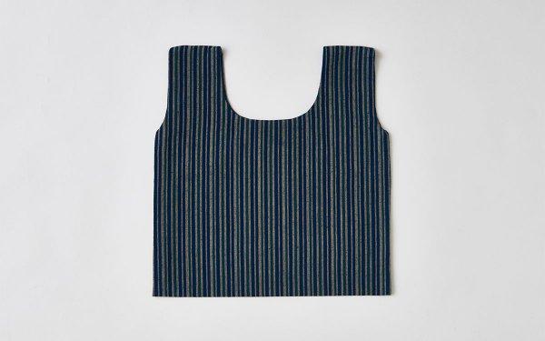 日本の布の手提げ|備後絣|小粋縞