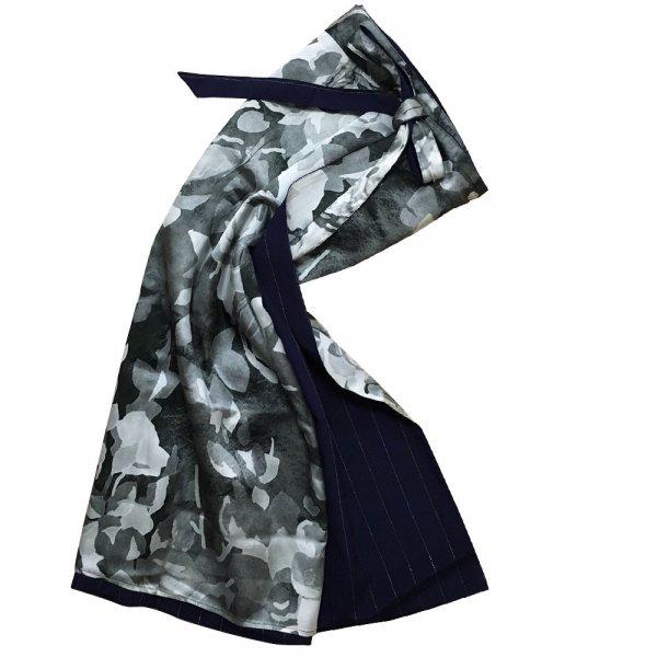 【sold out】renacnatta リバーシブル巻きスカート|ロング|Elegant Gray
