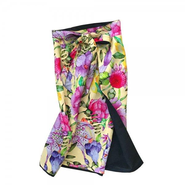 【sold out】renacnatta リバーシブル巻きスカート|ショート|Yellow Flower