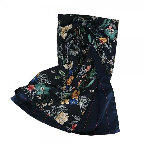 【sold out】renacnatta リバーシブル巻きスカート|ショート|Black White Flower