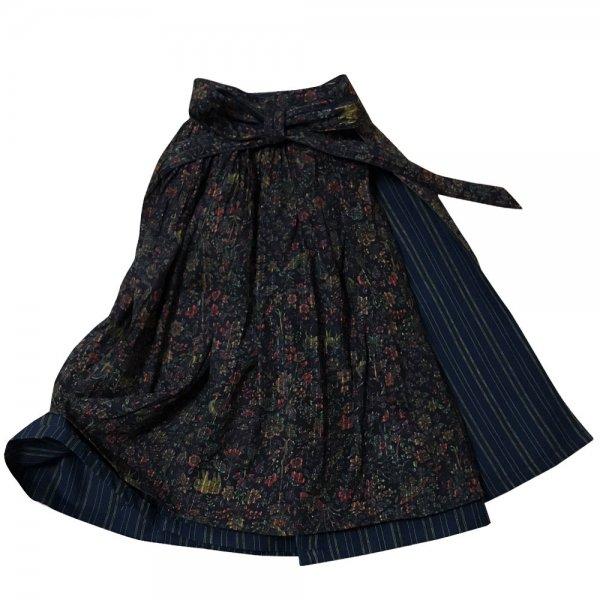 【sold out】 renacnatta リバーシブル巻きスカート|フレア|Night Forest
