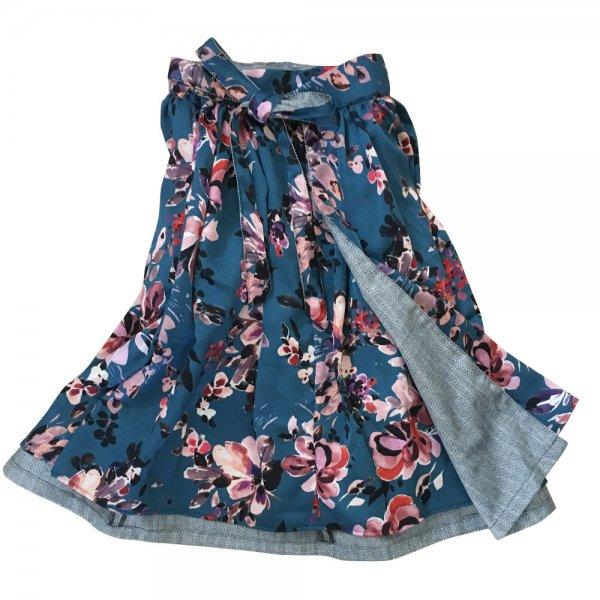 【sold out】renacnatta リバーシブル巻きスカート|フレア|Blue Flower