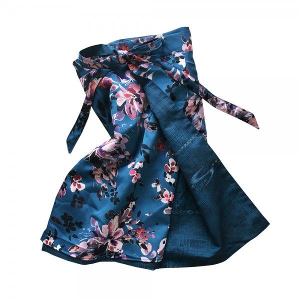 【sold out】renacnatta リバーシブル巻きスカート|ショート|Blue Flower
