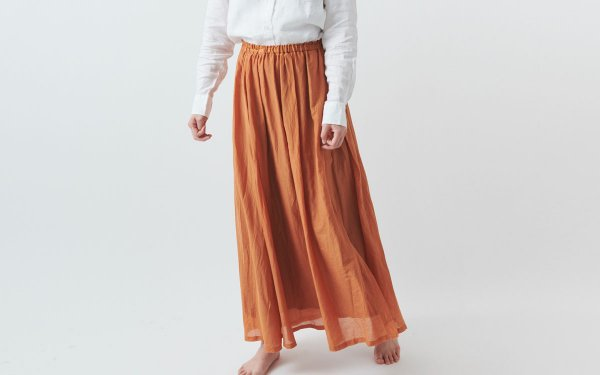 【new】enrica cottonsilk skirt TERACOTTA / botanical dye
