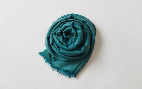 【new】enrica cottonsilk scarf green / natural dye