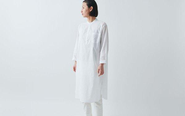 HANDROOM women's クルタシャツ(ホワイト)