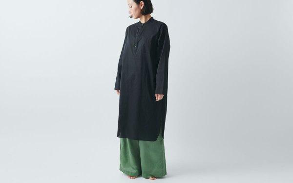 HANDROOM women's クルタシャツ(ブラック)