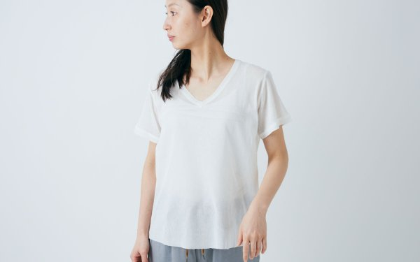 【new】enrica cotton cutsew natural / size 38