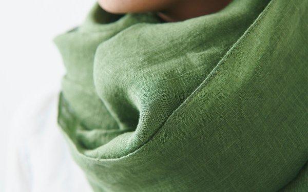 【new】enrica linen scarf khaki / natural dye