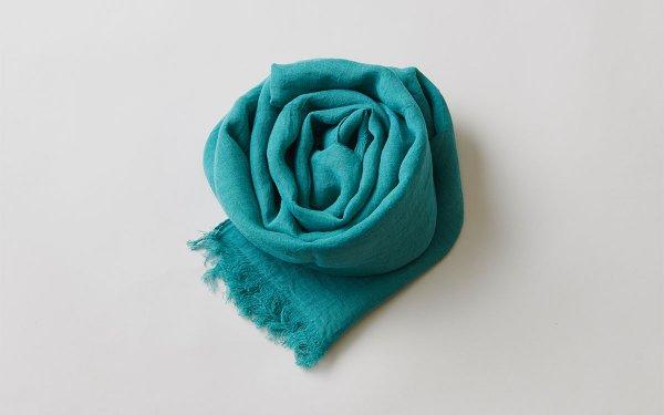【再入荷】enrica linen scarf gardeniagreen / natural dye