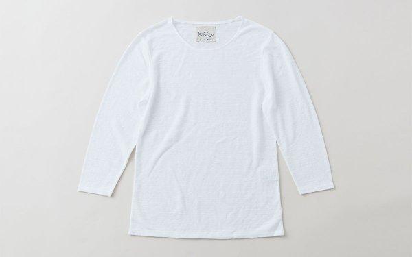 リネンコットンアンダーウェア|7分袖|ホワイト