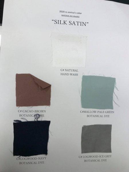 【予約専用:2020年3月お届け】enrica silkskirt010 cacao-brown / botanical dye / size36