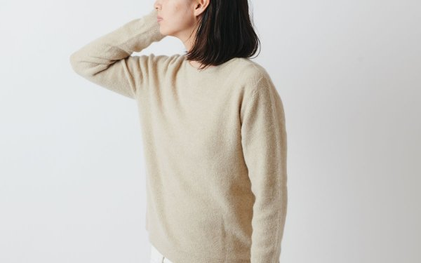 【sold out】enrica cashmere & sable knit beige