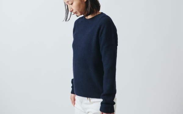 【sold out】enrica cashmere & sable knit navy