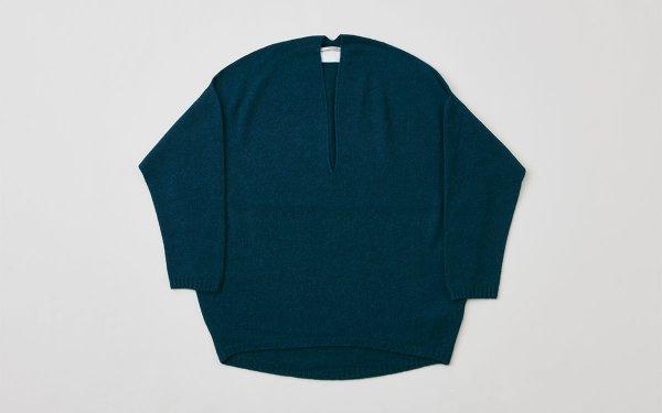 【sale】enrica cashmere knit / bleu-green