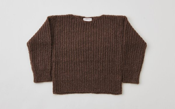 【sold out】enrica mohair&silk knit brown