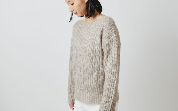 【sold out】enrica mohair&silk knit beige