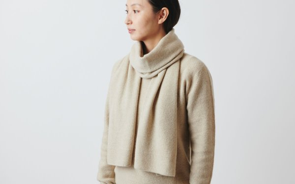 【sold out】enrica cashmere & sable muffler / beige
