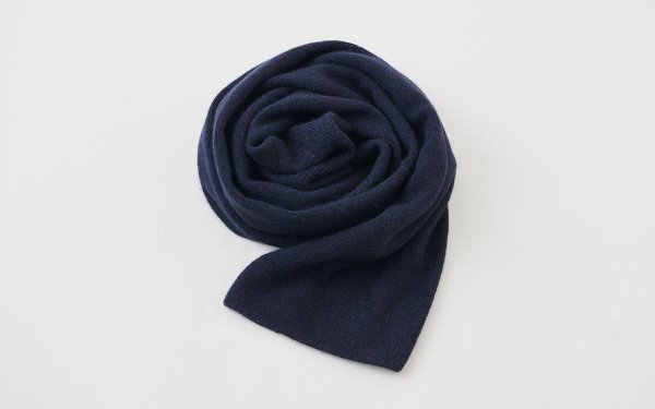 【sold out】enrica cashmere & sable muffler / navy