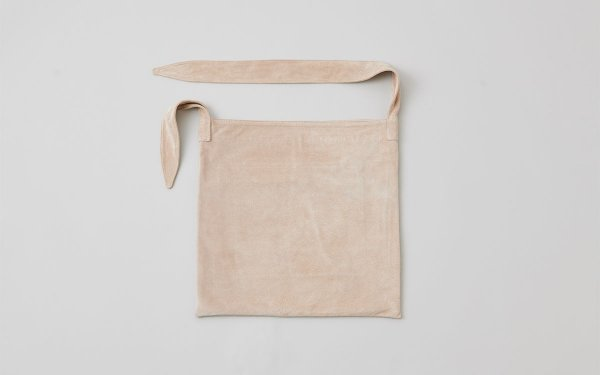 washable leather tie bag (beige)
