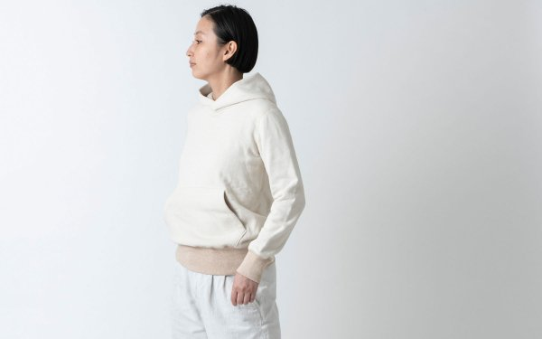 yohaku茶綿プルパーカー|キナリ|unisex 4サイズ