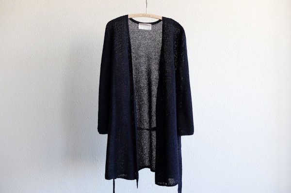 【new】enrica washi knit-gown|navy