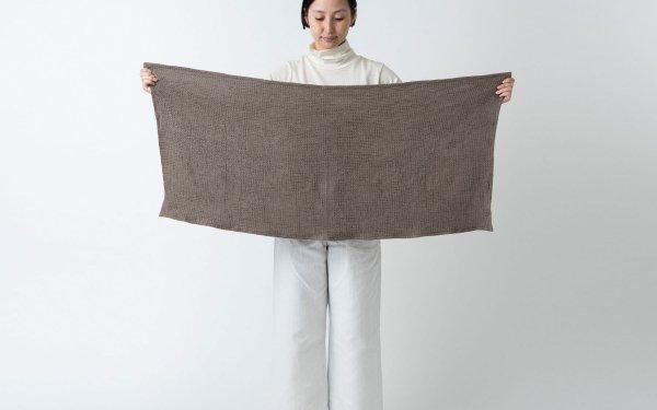 【再入荷】リネンワッフル 小さなバスタオル|ライトブラウン