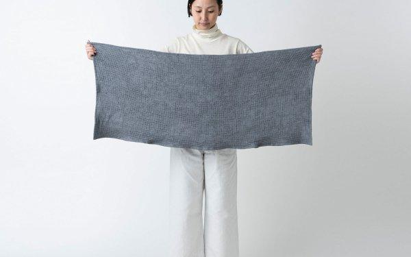 【再入荷】リネンワッフル 小さなバスタオル|ライトグレー