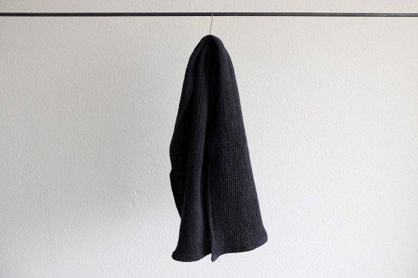 【sold out】リネンワッフル 小さなバスタオル|ネイビー