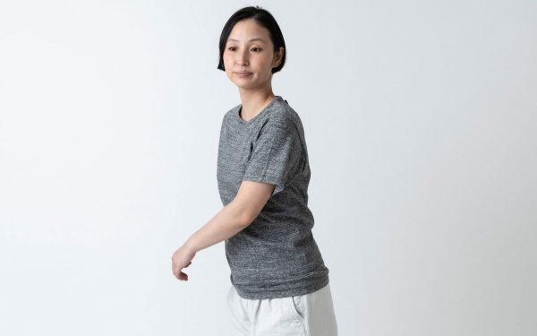 【new】yohaku TUTU ショートスリーブTシャツ|チャコール杢|ユニセックス3サイズ