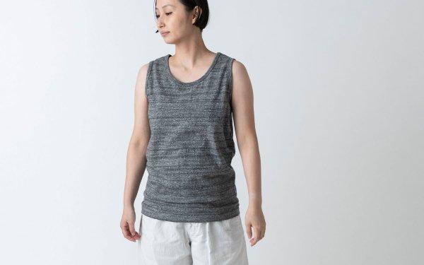 【new】yohaku TUTU タンクトップ|チャコール杢|ユニセックス3サイズ