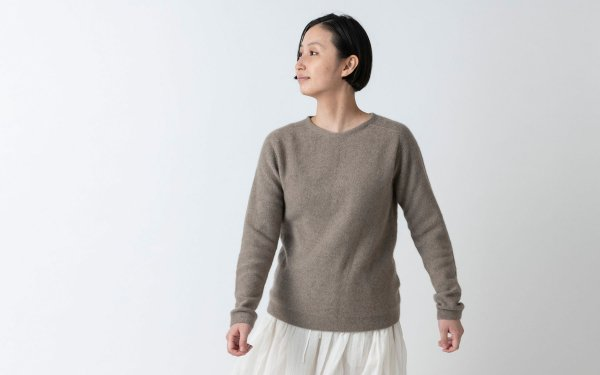 【sold out】enrica cashmere & sable knit / brown