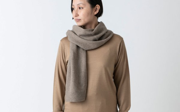 enrica cashmere & sable muffler / brown