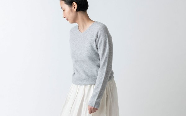 【sold out】enrica cashmere knit / grey