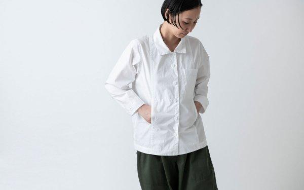 木間服装製作 / shirt white / unisex 2size