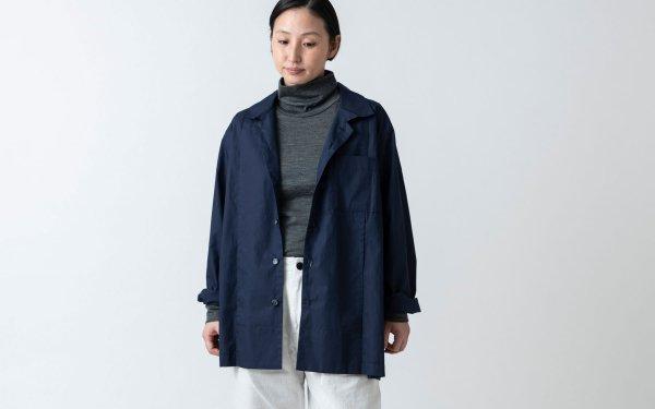 木間服装製作 / shirt navy / unisex 2size
