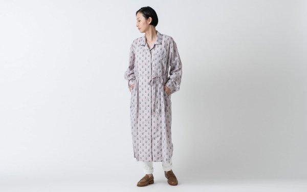 【4月下旬お届け】木間服装製作 / longshirt flower / unisex 1size