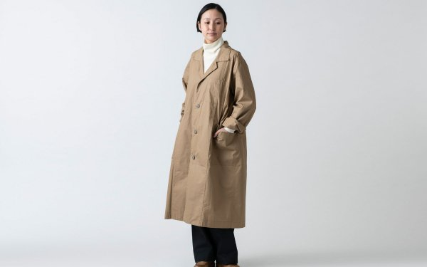 【再入荷】木間服装製作 / coat タイプライター beige / unisex 1size