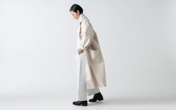 【再入荷】木間服装製作 / coat 帆布 offwhite / unisex 1size