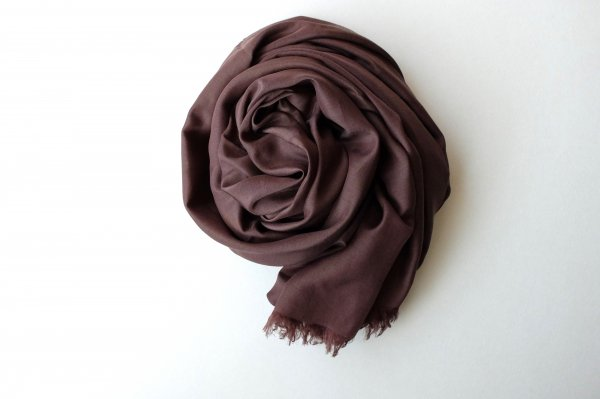 【new】enrica cottonsilk scarf coffeechocolate / botanical dye