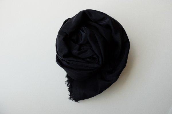【new】enrica cottonsilk scarf logwoodblack / botanical dye