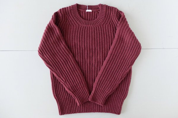 【new】yohaku 残糸のもちもちニット|ワインレッド|unisex