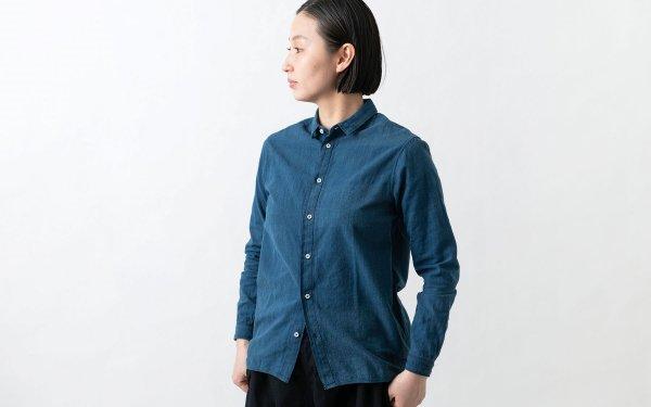MITTAN / カディシャツ 藍×胡桃 SH-03C / unisex