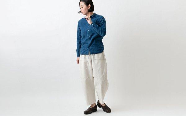 MITTAN / 竹パンツ PT-09B ベンガラ白 / unisex